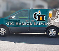 Gig Harbor Brewing Co Van Wrap
